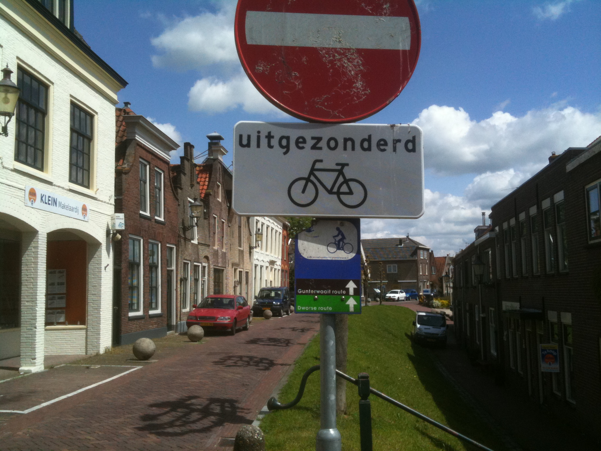 Themabordjes fietsroutes